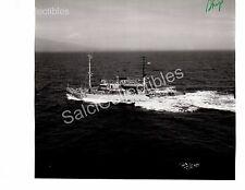 Historic US Navy Ship Safeguard ARS-25 Rescue / Salvage Ship Official Photo 8x9