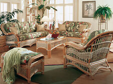 Sea Scape Indoor Wicker 5 pc. Living Room Set from Spice Island Wicker