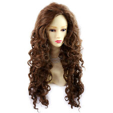 Wiwigs Long Wild Untamed Brown & Auburn Mix Curly Ladies Wig