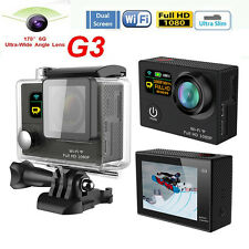 G3 WiFi Dual Screen Action Camera Sports Helmet Cam Waterproof as Gopro Hero 4