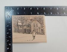 Impression Obsession Coming Home Rubber Stamp H1915
