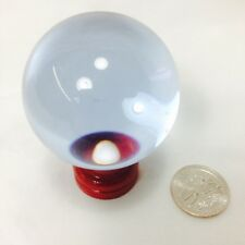 "Crystal Glass Ball, Clear Purple Blue 50 mm ( 2"" )with wood stand LC25-50"