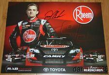2014 James Buescher signed Rheem Toyota Camry NASCAR Nationwide postcard