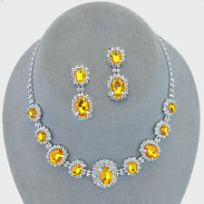 Jonquil diamante necklace set sparkly clear rhinestone proms bridesmaid 0249