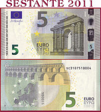 "(com) EUROPEAN UNION - ITALY 5 EURO 2013 Sign DRAGHI  ""SC""  S002C4 - P 20s - UNC"