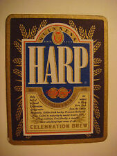 Beer Brewery Coaster ~ Guinness Brewery Harp Celebration Brew ~ Dundalk, IRELAND
