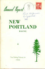 1966 ANNUAL REPORT of the Town of New Portland, Maine