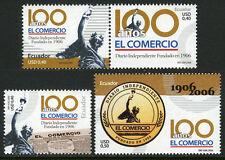 Ecuador 1761-1763, MNH. El Comercio Newspaper, cent. Statue, 2006