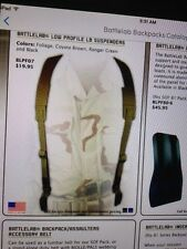 Diamondback Tactical Low Profile Load Bearing Suspenders for war/battle belt OD