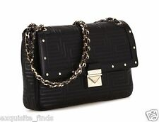 New GIANNI VERSACE COUTURE black quilted leather shoulder bag