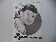 advertising Pubblicità 1961 BACI PERUGINA