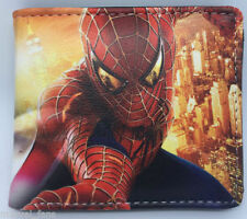 Spider-Man and Captain Anime Cosplay leather Purse Wallet men's kid's New   1