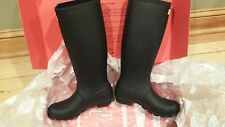 Hunters Woman's Original Tall Black Boots Size 7 US WFT1000RMA New in Box NIB