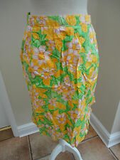 LOVELY VINTAGE RETRO 1960s YELLOW & GREEN FLOWERY TIE BACK CUPCAKE COOKING APRON