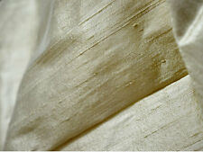 Pure dupioni silk fabric in Ivory material for wedding dresses raw silk