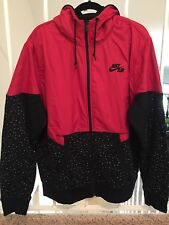 Nike Aw77 Basketball Windrunner Jacket Men's 2XL Red Black Hoodie Tech Fleeces