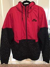 Nike Aw77 Basketball Windrunner Jacket Men's 2XL Red Black Hoodie Tech Fleeces