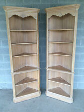 ETHAN ALLEN FRENCH COUNTRY BISQUE PAIR OF CORNER CUPBOARDS FINISH 270/ 26-9325
