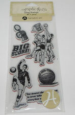 Graphic 45 CLING STAMP rubber Basketball Soccer sport 7 whistle team High School