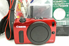 Canon EOS M 18MP 18X digital camera body kit *red *superb
