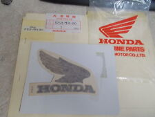 NOS OEM Honda Right Fuel Tank Emblem 1983 CB550SC-D Nighthawk 87121-ME4-300