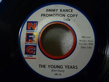 JIMMY RANCE Little Things/The Young Years - Rare Teen/Doo Wop EX Vinyl NRC PROMO