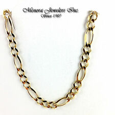 "24"" 10K Yellow Gold Figaro Link Necklace / Pendant Chain 5.5mm 17.9g ITALIAN"
