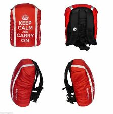 CYGLOVE Bike Hi-Viz Reflective Hump Backpack Bag Rucksack Cover RED Keep Calm