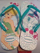 HAVAIANAS Size 1 - 2 GIRLS Disney Tinkerbell Flip Flops Sandals Shoes NEW