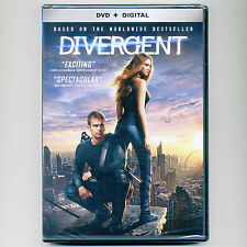 Divergent 2014 PG-13 sci-fi action movie, new DVD +Digital HD, Woodley, Winslet