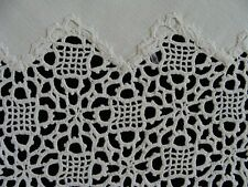 "FAB Antique VICTORIAN English Tea Tablecloth 34"" Hand Made Venetian Lace PRISTIN"