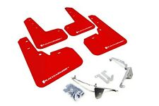 Rally Armor Mud Flaps Guards for 13-16 Subaru XV Crosstrek (Red w/White Logo)