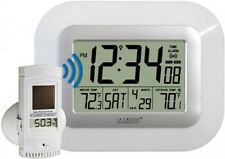 La Crosse Technology WS-811561-W atomic digital wall clock with solar-powered