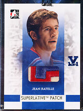 2008-09 ITG SUPERLATIVE JEAN RATELLE JERSEY PATCH 1/1 GOLD VAULT