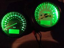 GREEN Suzuki SV650S 99 T0 02 CURVY led dash clock conversion kit lightenUPgrade