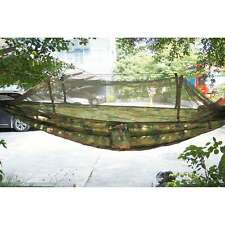 Camouflage Polyester Jungle Hammock with mosquito net for Camping Outdoor Travel