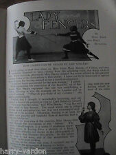 Lady Fencers Sword women Foil Fencing Myra Dane Edna Stacey Antique 1899 Article