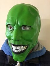 'The Mask' Green Latex Mask Jim Carrey Movie Fancy Dress Loki Halloween Party