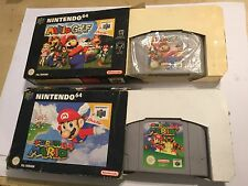 2 x NINTENDO 64 N64 GAMES SUPER MARIO 64 + GOLF BOTH BOXED PAL & TESTED