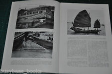 1927 magazine article LIFE AFLOAT IN CHINA, onboard houseboats Hong Kong etc