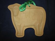 BROWN BAG Cookie Art Mold 1986 Cow ~ Excellent with Ribbon