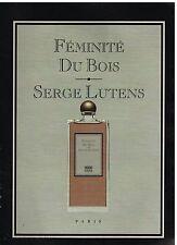 Publicité Advertising 2009 Parfum Feminité du Bois par Serge Lutens