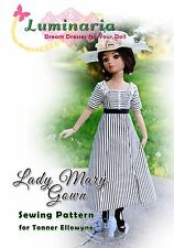PATTERN Lady Mary, Downton Abbey Gown, Dress, Clothes, for Tonner Ellowyne