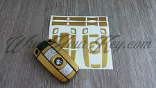 GOLD METALLIC Key Fob Wrap Cover Overlay BMW 1 3 5 6 Series Z4 X1 3 X5 X6 M