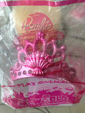 NEW! BARBIE 3 PC. CHILD DRESS UP SET-Crown/Compact/Butterfly Bracelet-McDonald's