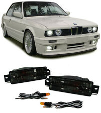 PAIR OF SMOKED INDICATORS LIGHTS FOR THE BMW E30 3 SERIES MODEL V2