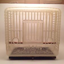 Rare Vintage Plastic Bird Cage Art Deco Unusual & Unique