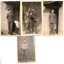 WW2 snapshots lot of 4 ID'd military or air force Detroit R.A.F Royal Air Force