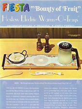 VINTAGE AD SHEET #1955 - HOSTESS ELECTRIC WARM-O-TRAYS - BOUNTY OF FRUITS