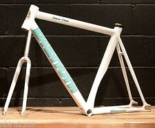 New 2016 Bianchi Super Pista 53 CM Frameset White Track Bicycle Frame Fork